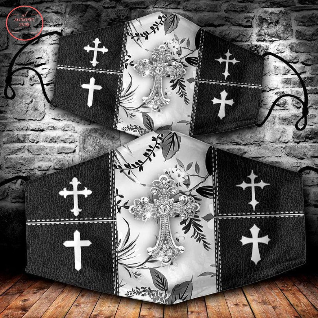 Christian Cross 3D All Over Printed Face Mask