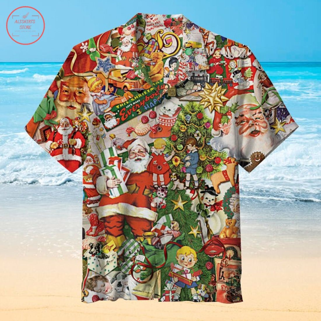 Christmas grandpa presents Hawaiian Shirt