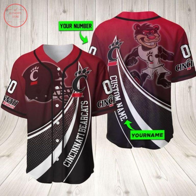 Cincinnati Bearcats Personalized Baseball Jersey