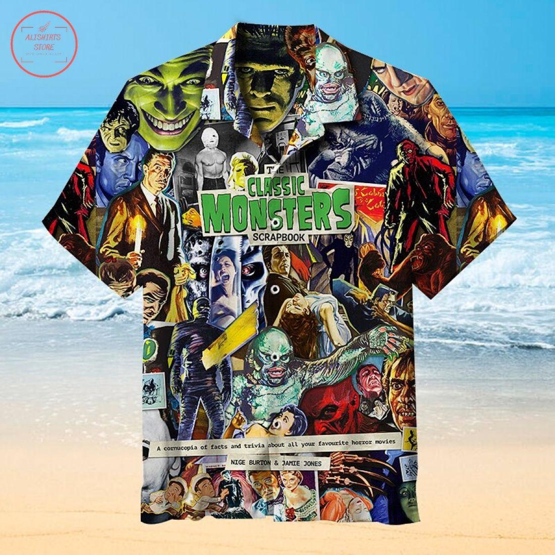 Classic Monsters Scrapbook Hawaiian Shirt