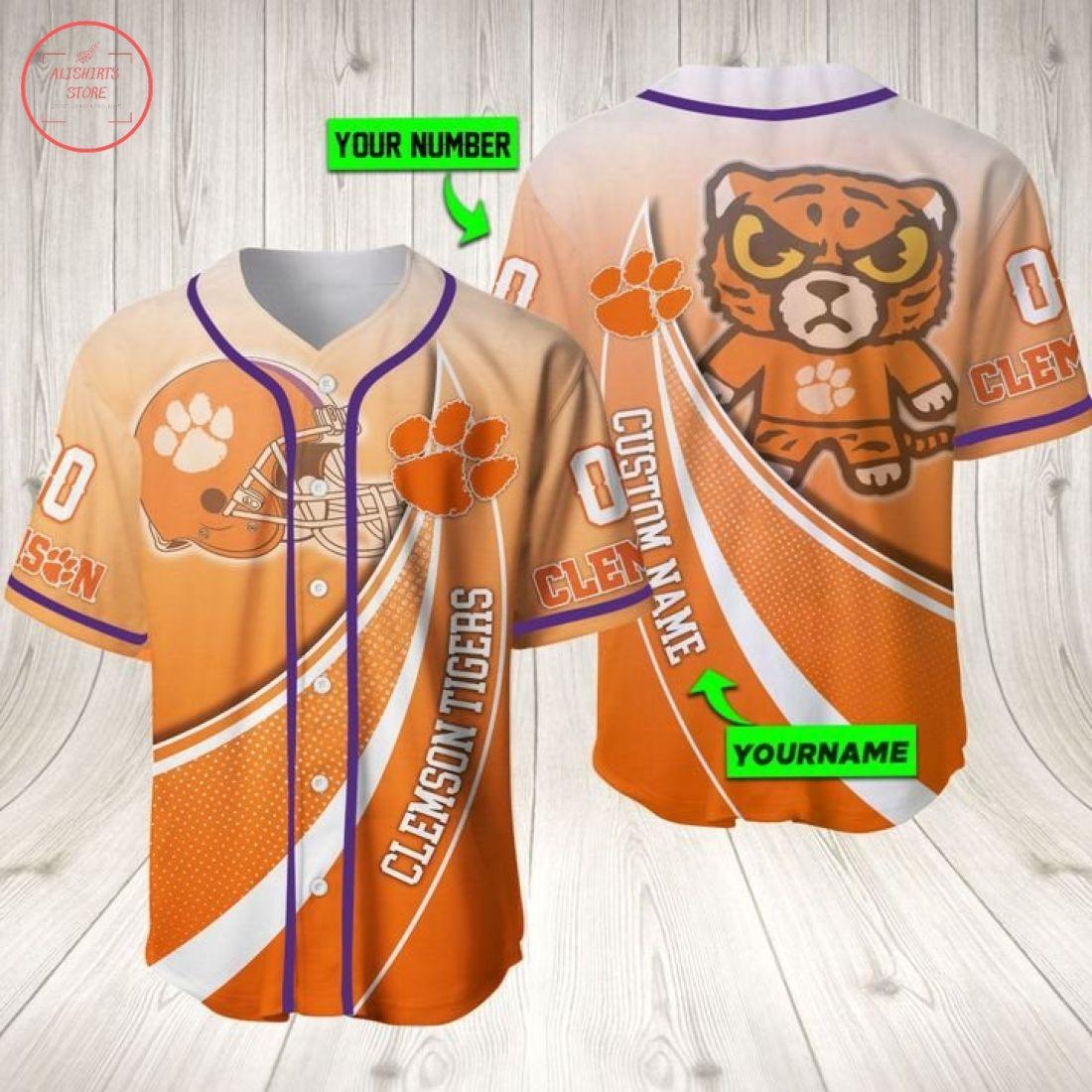 Clemson Tigers Ncaa Personalized Baseball Jersey