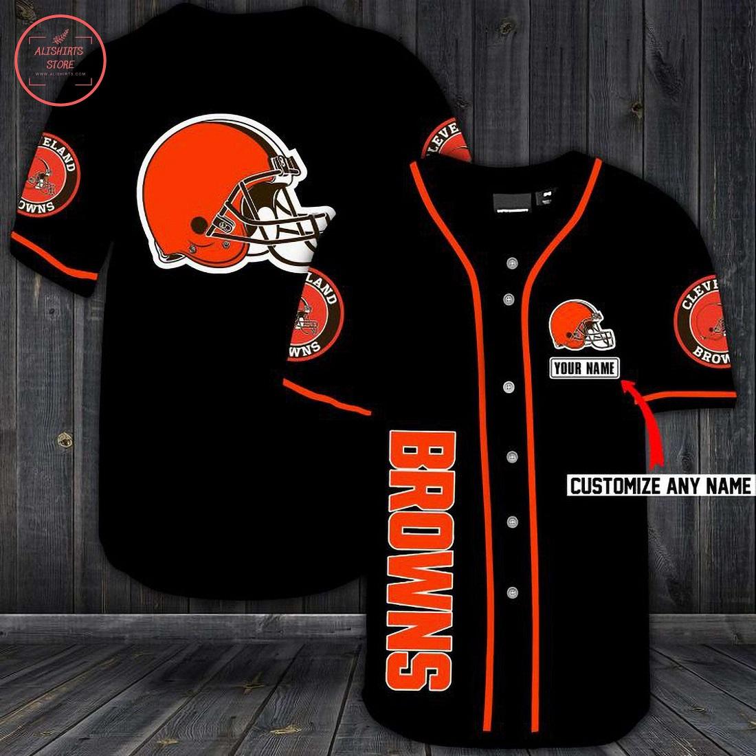 Cleveland Browns Personalized Baseball Jersey