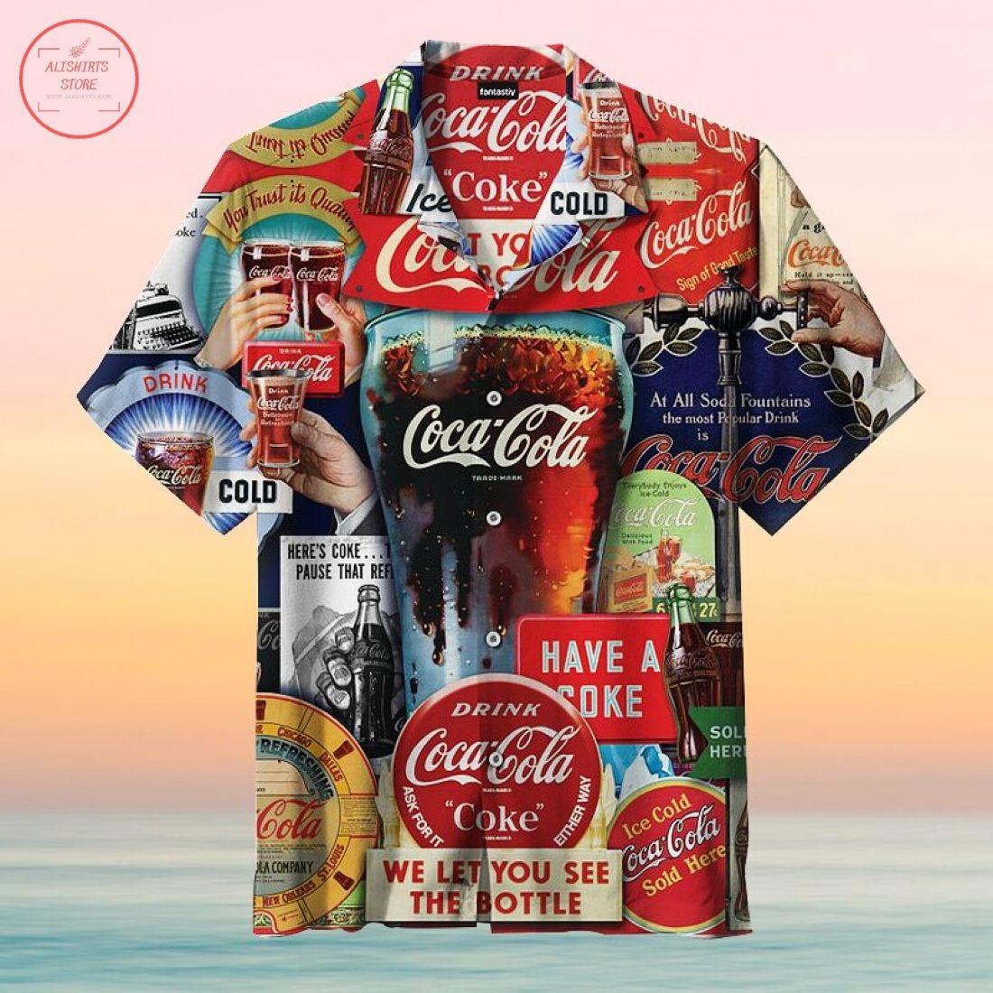 Coca-Cola Decades of Tradition Hawaiian Shirts