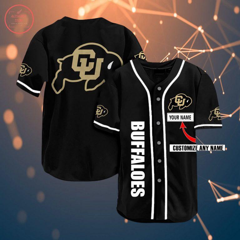 Colorado Buffaloes Personalized Baseball Jersey