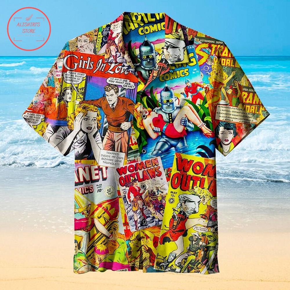 Comic Book Reviews Hawaiian Shirt