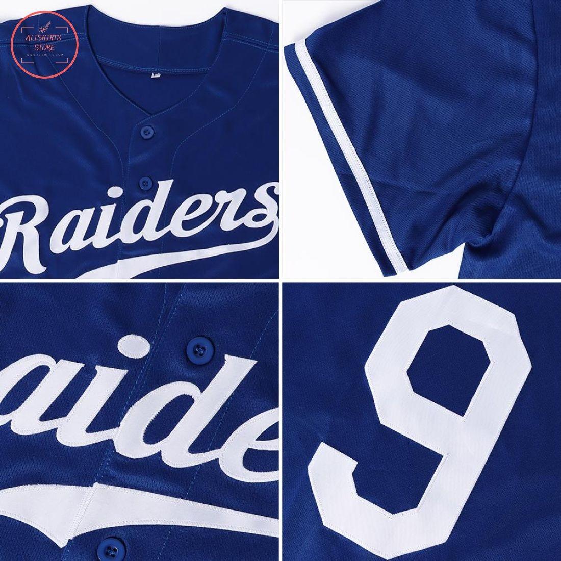Custom Royal Red-White Baseball Jersey