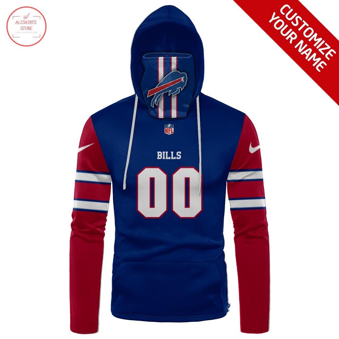 Custom name NFL Buffalo Bills Gaiter Hoodie
