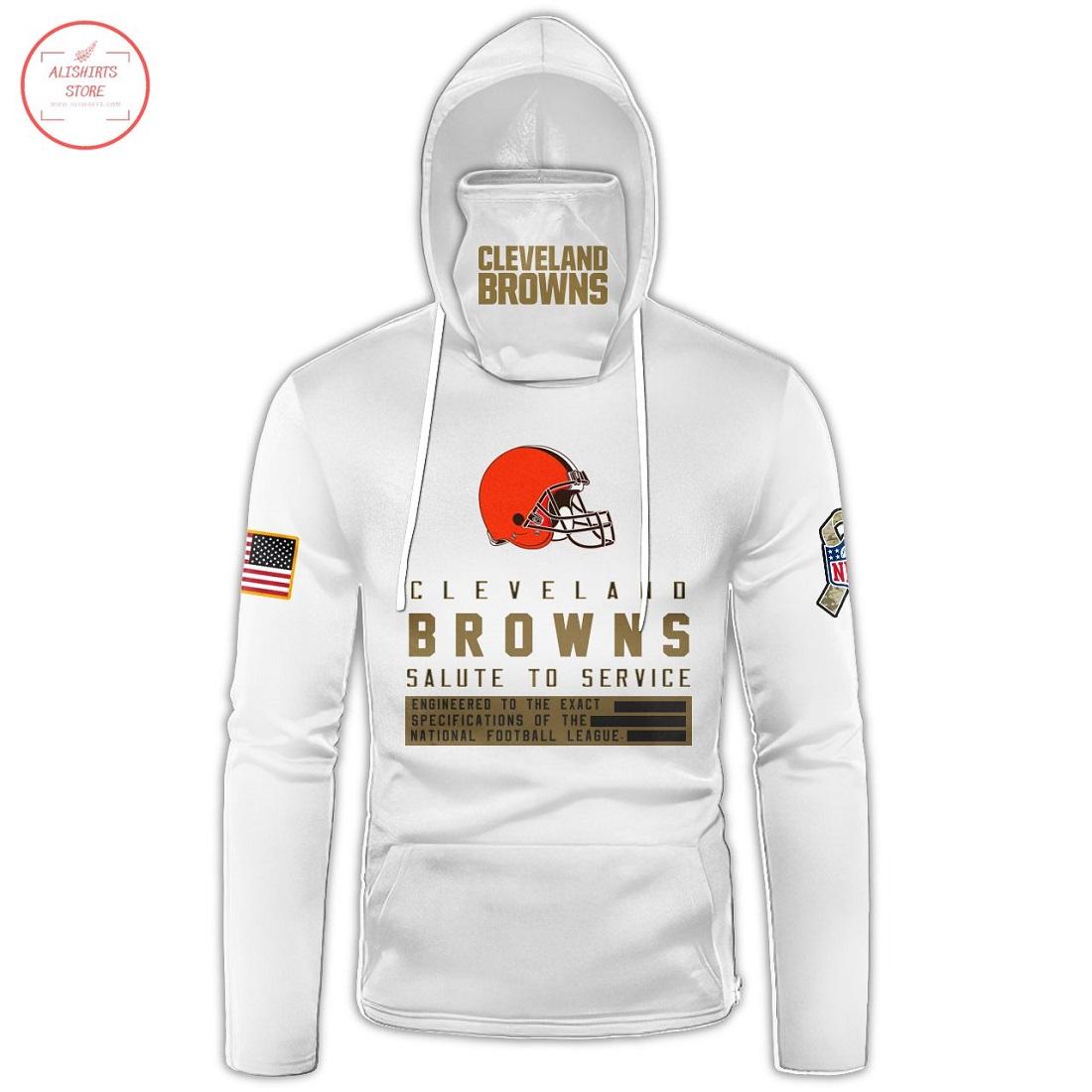 Custom name NFL Cleveland Browns Gaiter Hoodie