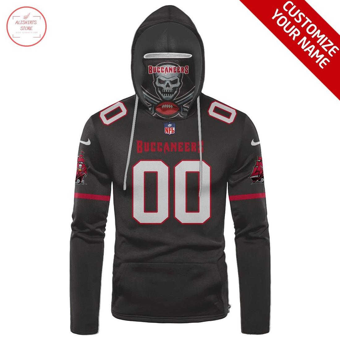 Custom name NFL Tampa Bay Buccaneers Gaiter Hoodie
