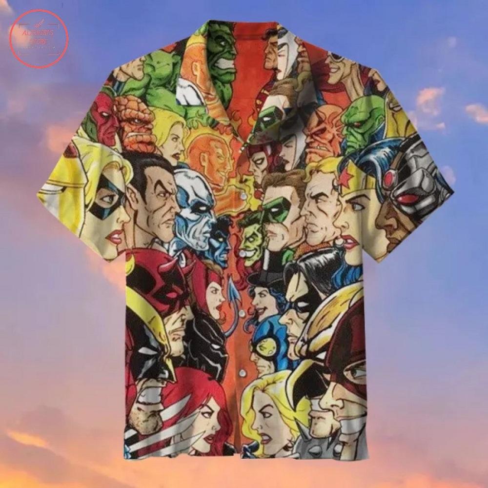 DC vs Marvel Hawaiian shirt