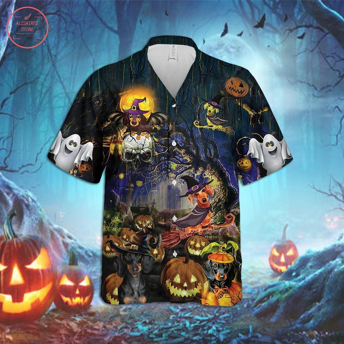 Dachshund Dog Halloween Hawaiian Shirt