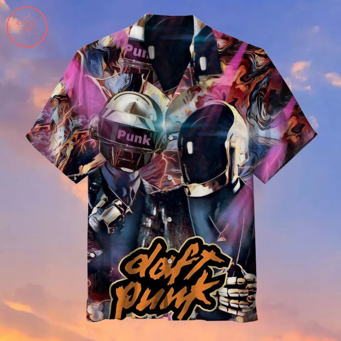 Daft Punk Helmet Hawaiian Shirt
