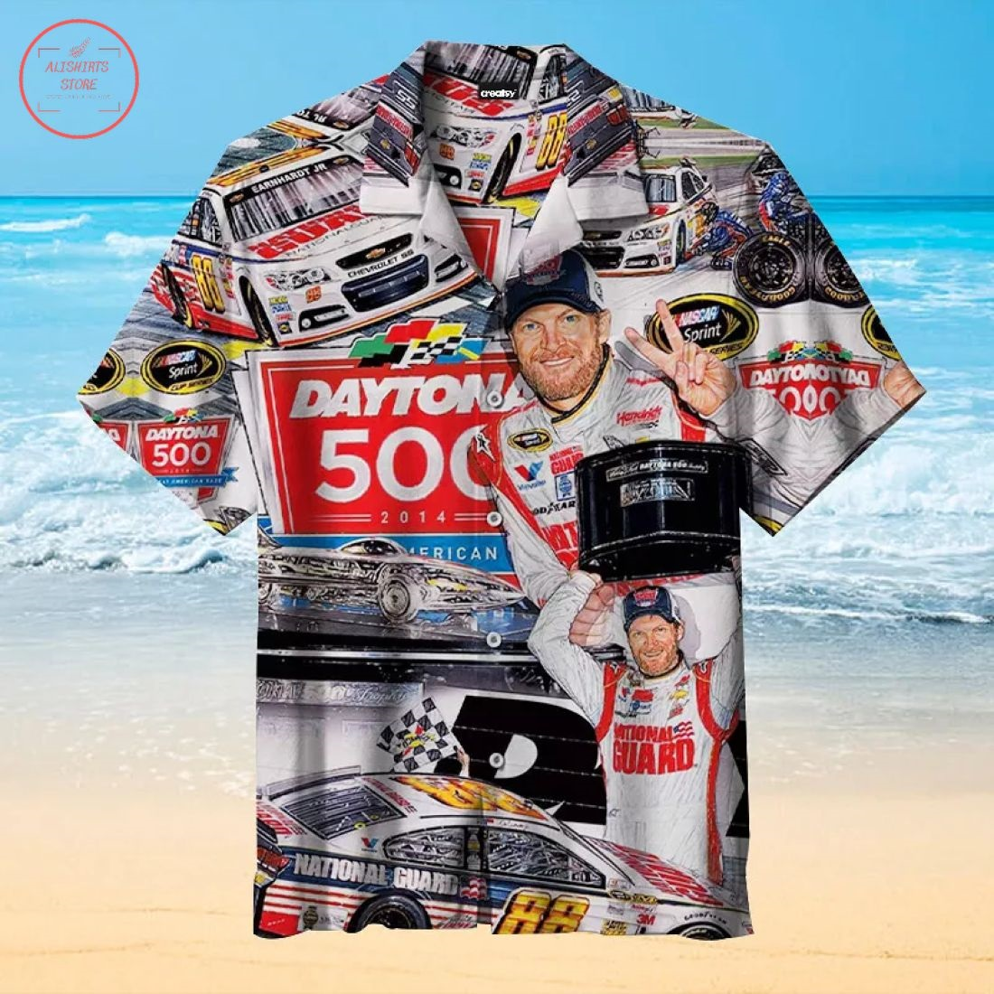 Dale Earnhardt Jr Hawaiian Shirt