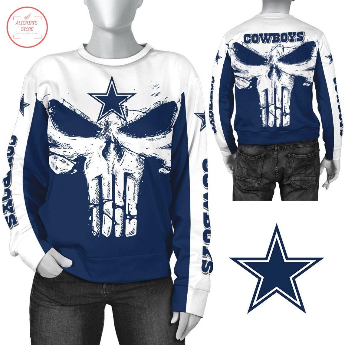 Dallas Cowboys NFL Punisher Skull Sweatshirt