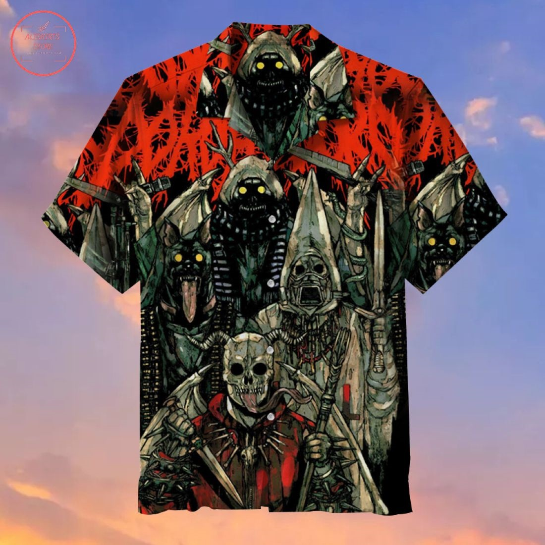 Demon theme Hawaiian Shirt