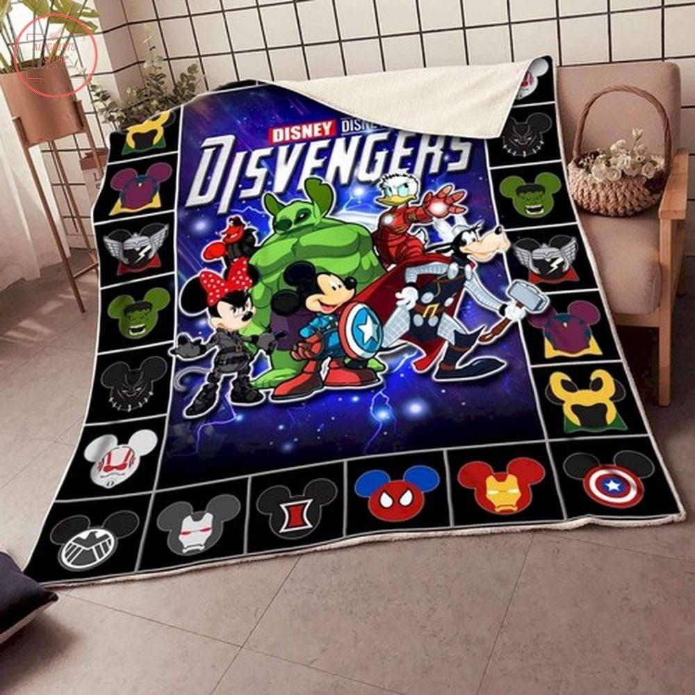 Disney Disvengers Cartoon Avengers Fleece Blankets