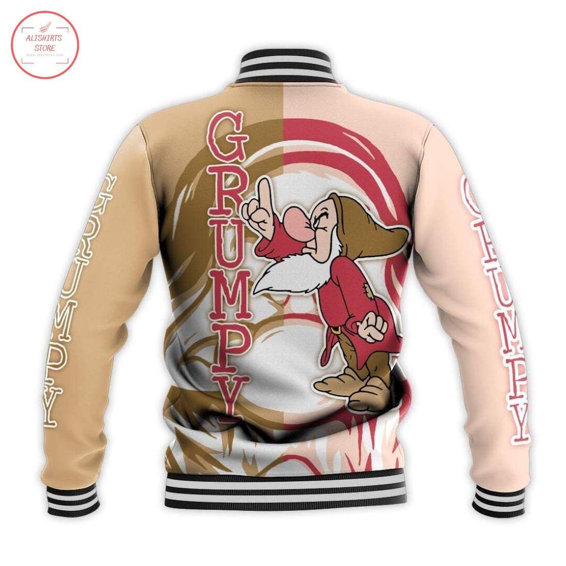 Disney Grumpy DwarfLetterman Jacket