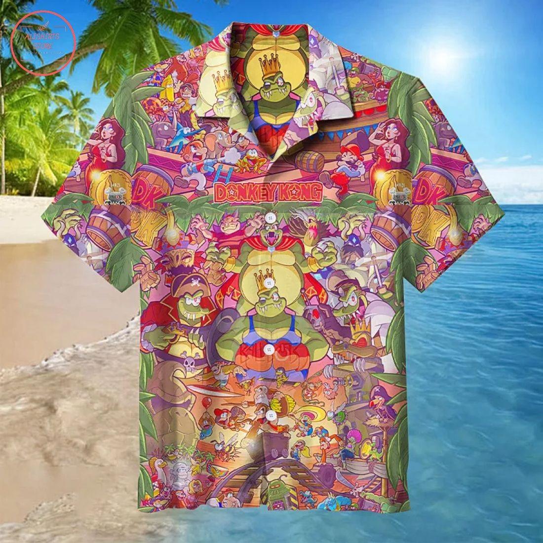 Donkey Kong Hawaiian Shirt