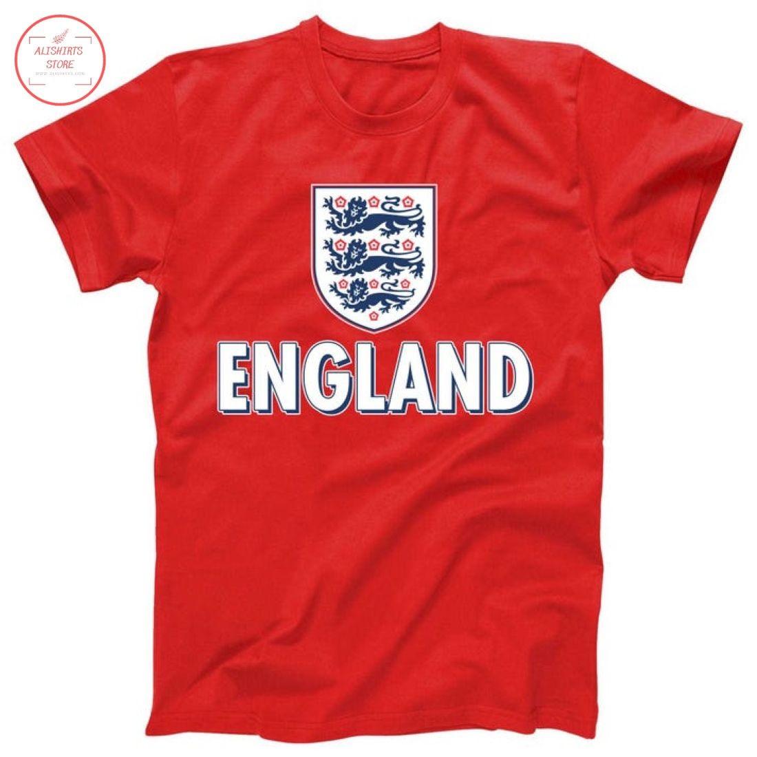 England Soccer Three Lions Flag Logo Shirt