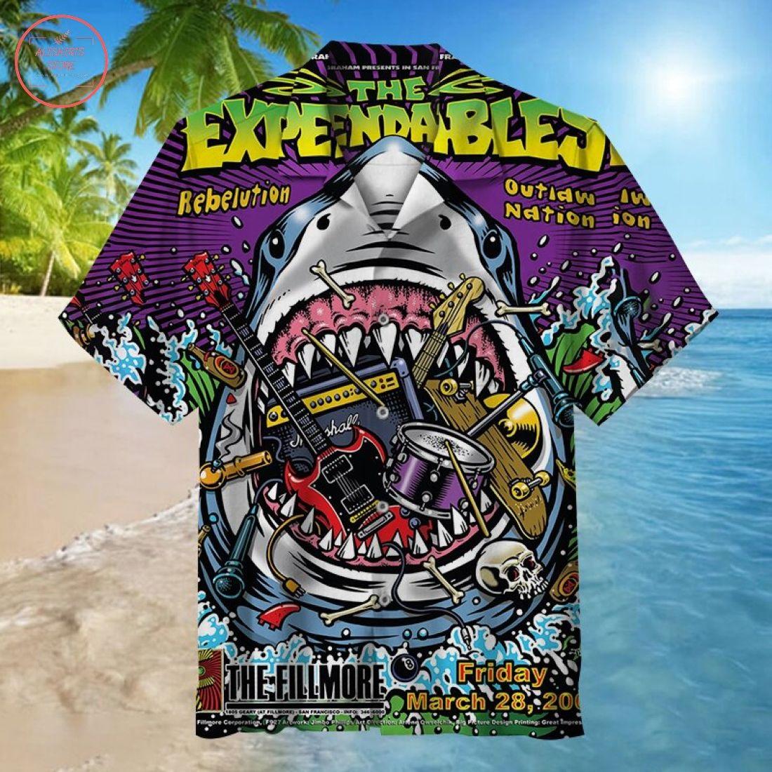 Expendables Shark Hawaiian Shirts