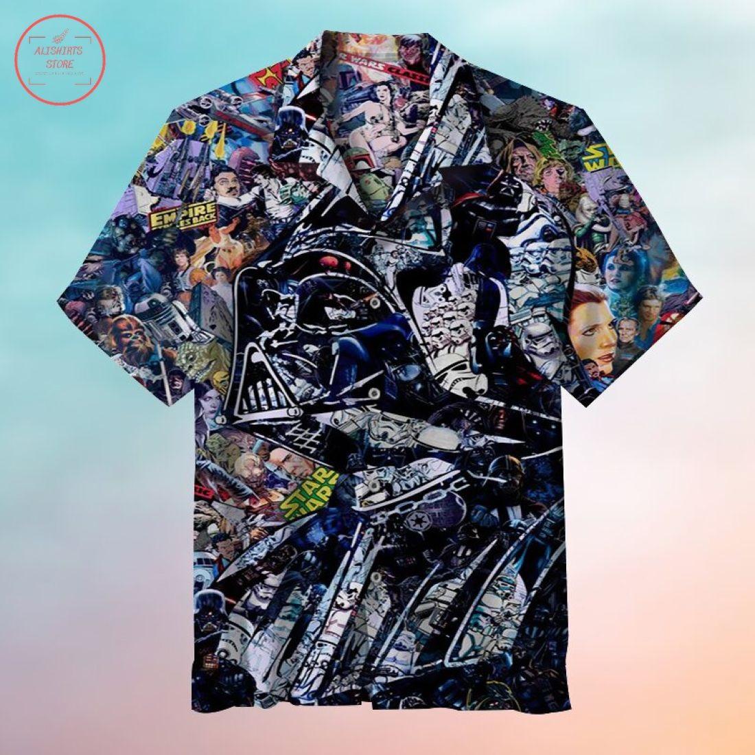 Falling into the dark side of the force Hawaiian shirt