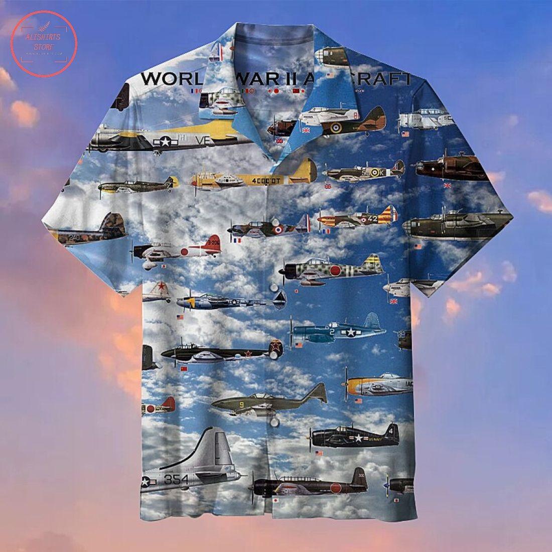 Fighter aircraft Hawaiian Shirt