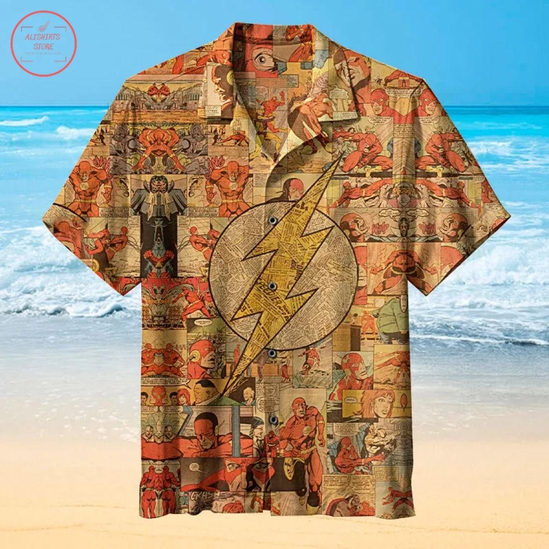 Flash Retro Logo Hawaiian Shirt