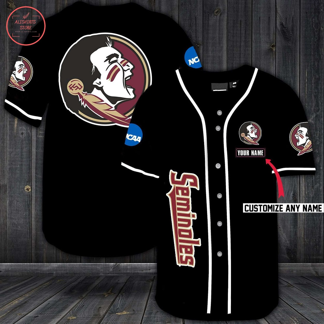 Florida State Seminoles Personalized Baseball Jersey
