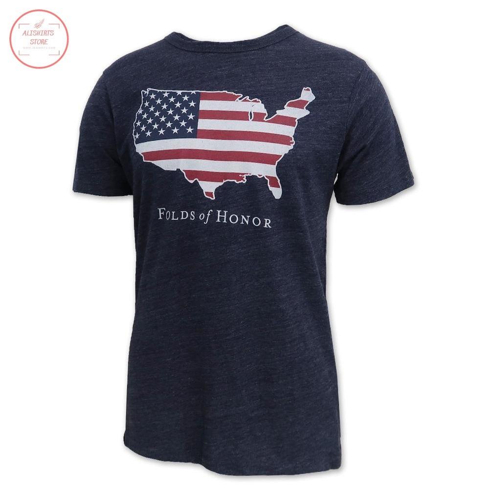 Folds Of Honor USA Flag Victory Falls Shirt