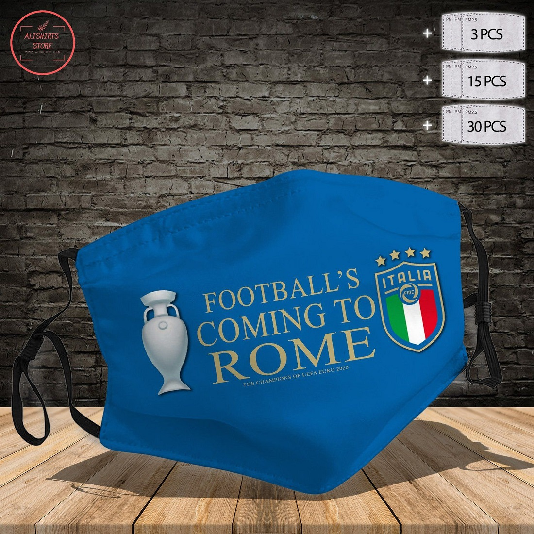 Football's coming to Rome Face Mask