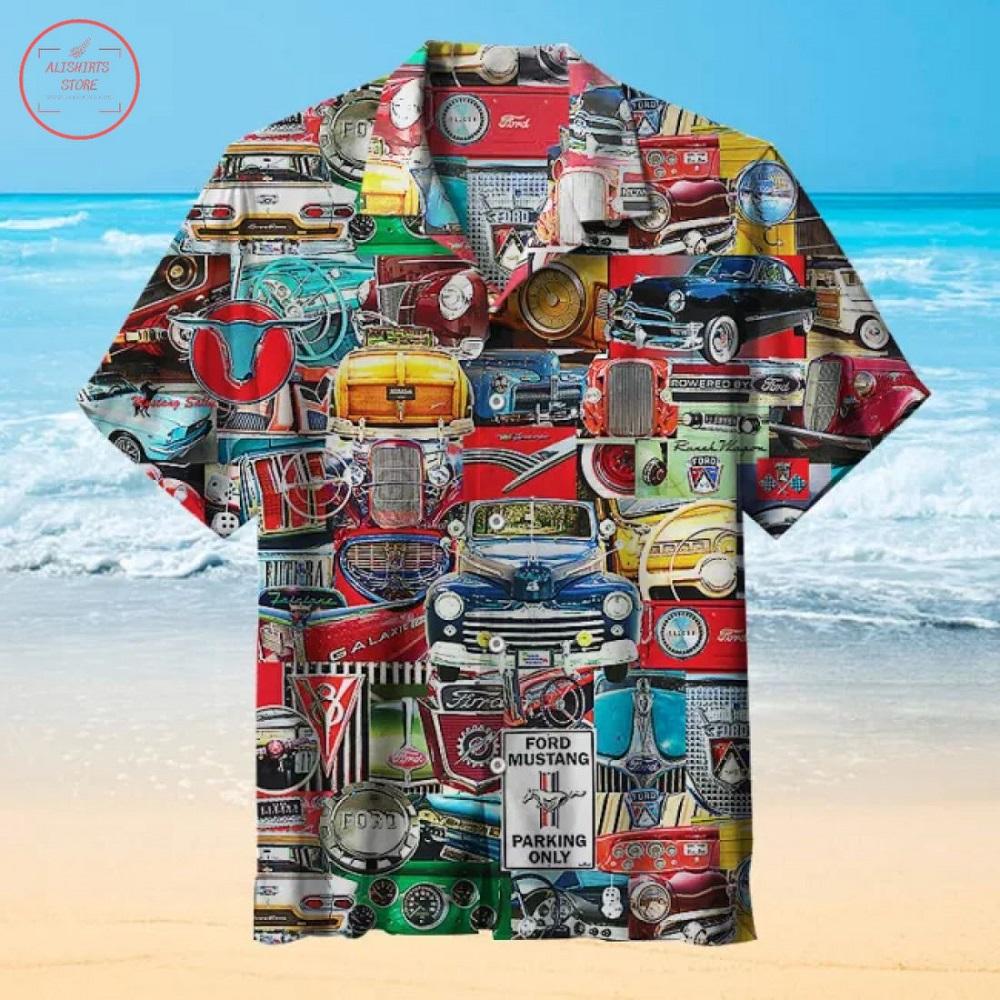 Ford Classic Car pattern Hawaiian Shirt