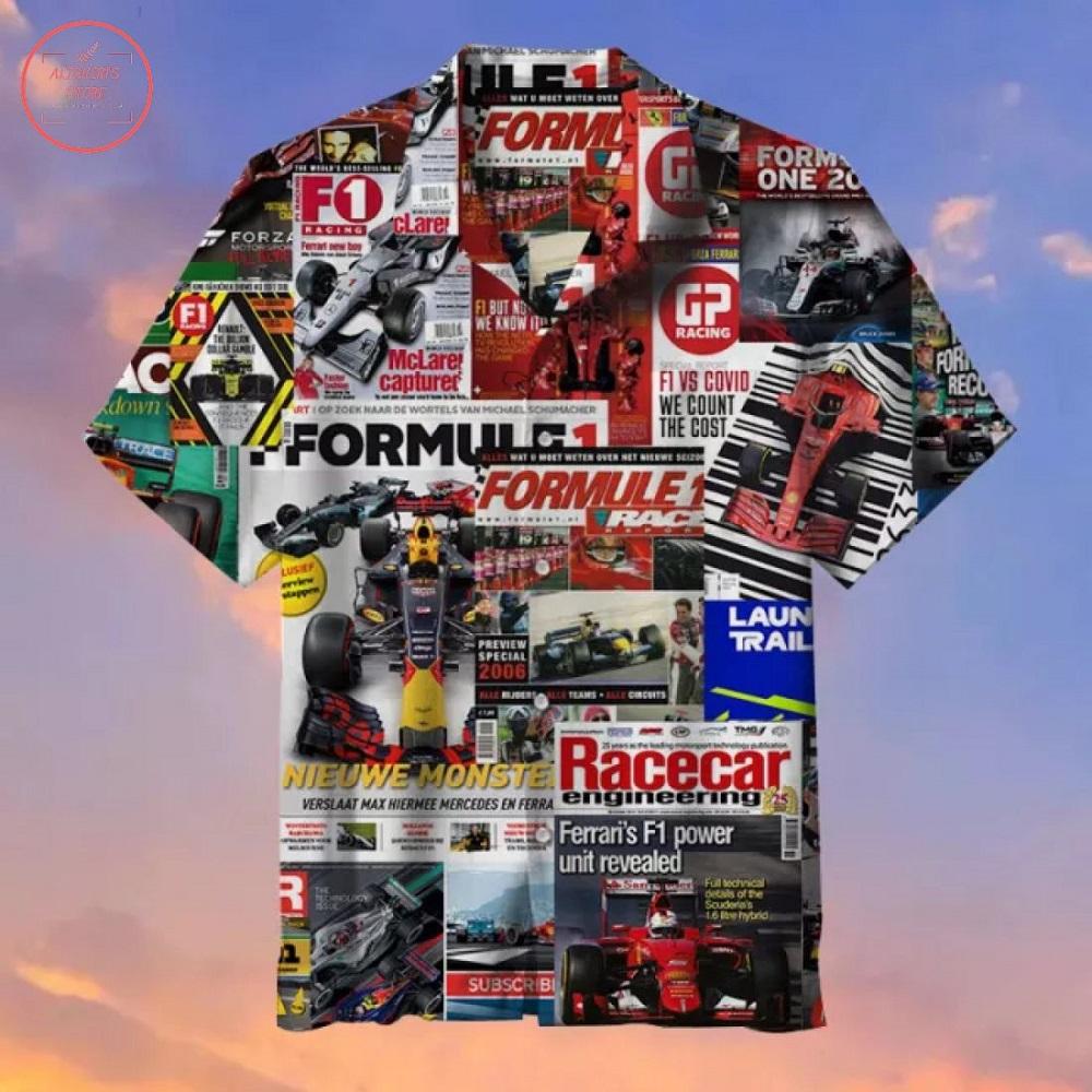 Formula 1 pattern Hawaiian Shirt
