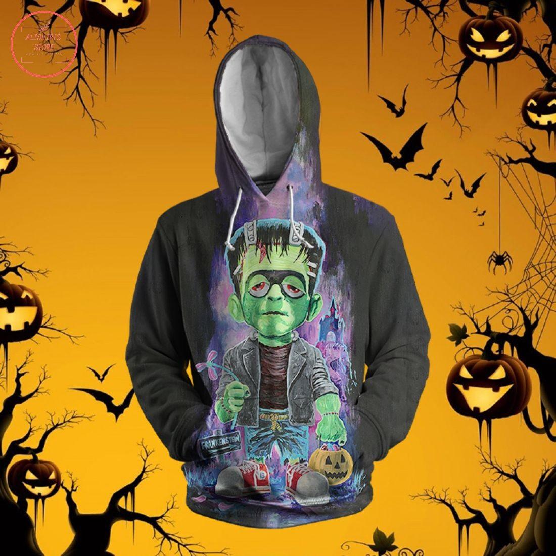 Frankenstein Halloween 3D Hoodie