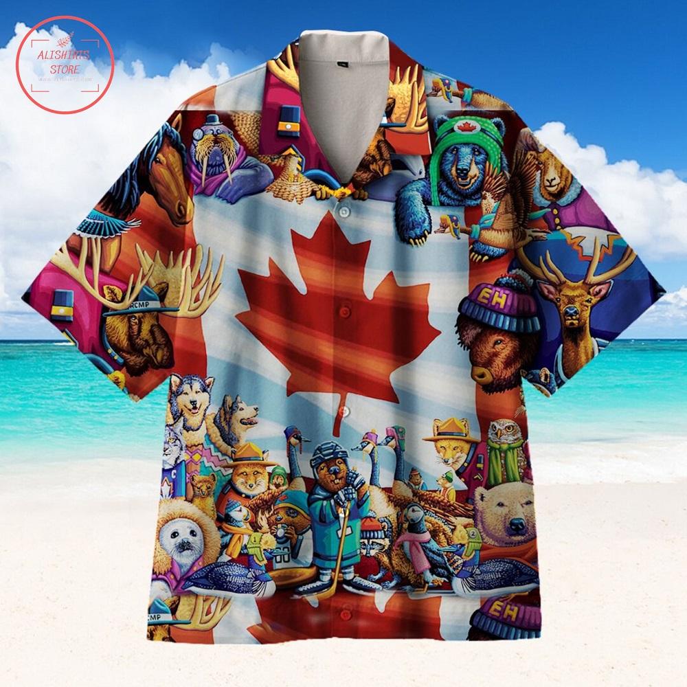 Funny Canadian Hawaiian Shirt