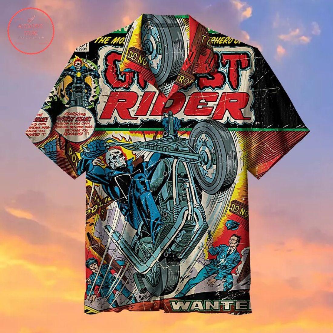 Ghost Rider Hawaiian Shirt