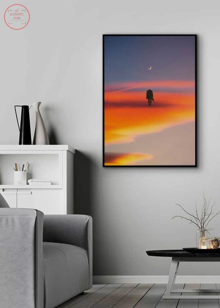 Go To the Moon Canvas Wall Art
