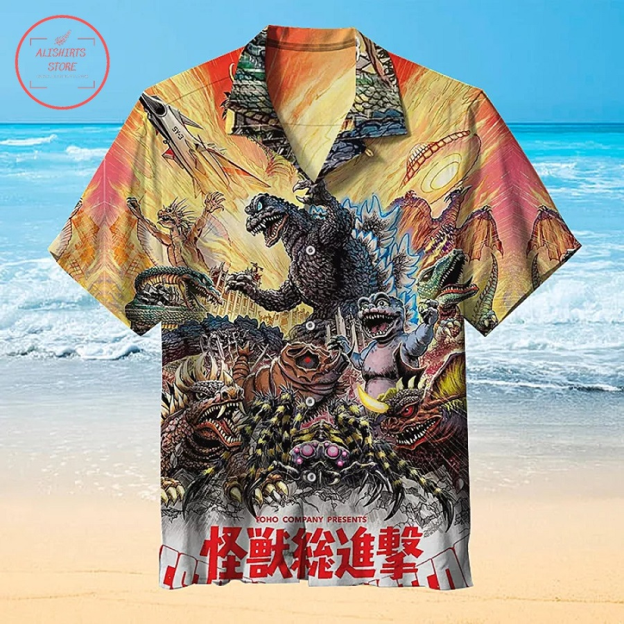 Godzilla Movie Hawaiian Shirt