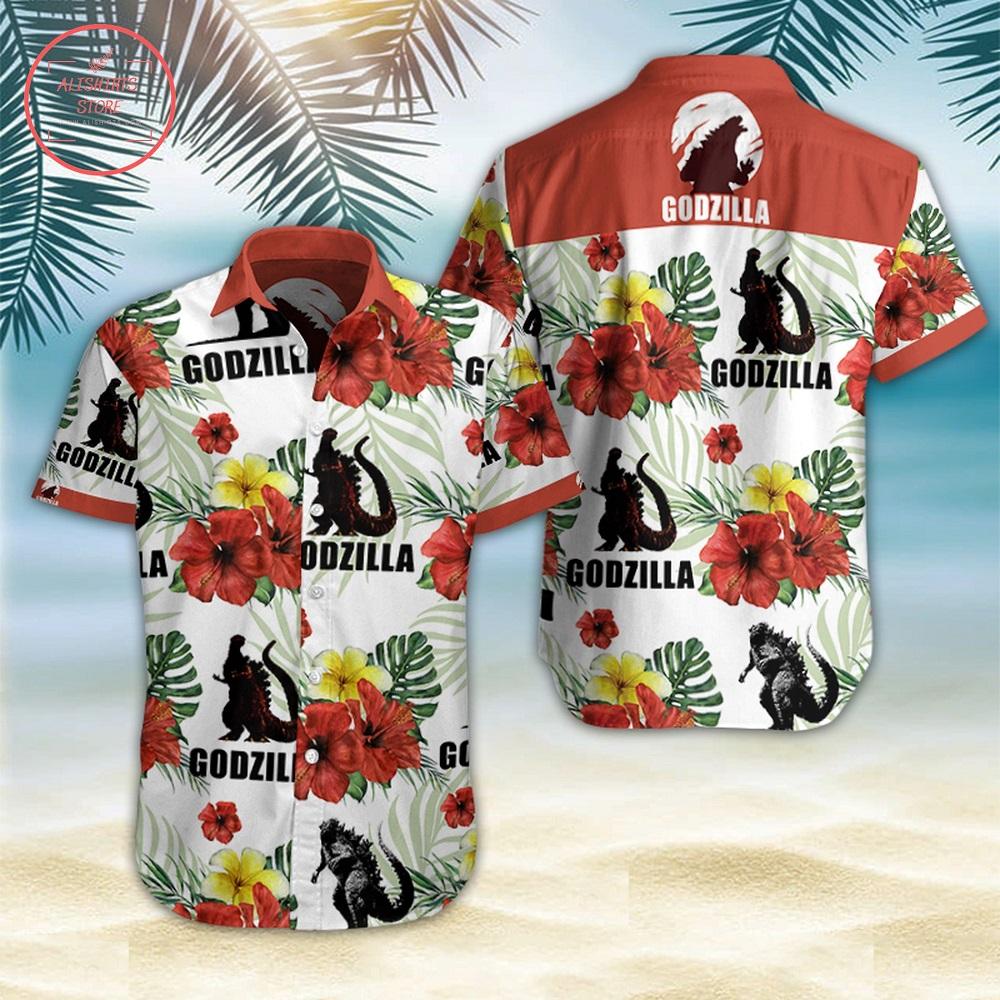 Godzilla Movies Hawaiian Shirt Summer Button Up