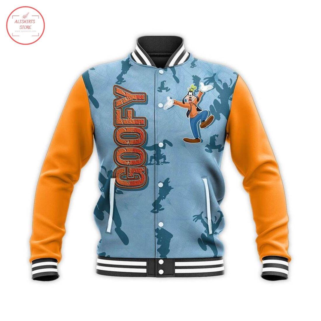 Goofy Dog Disney Letterman Jacket