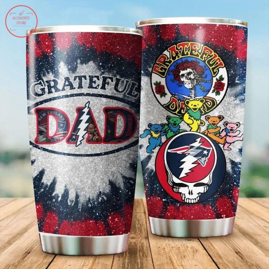 Grateful Dead New England Patriots Gift Tumbler