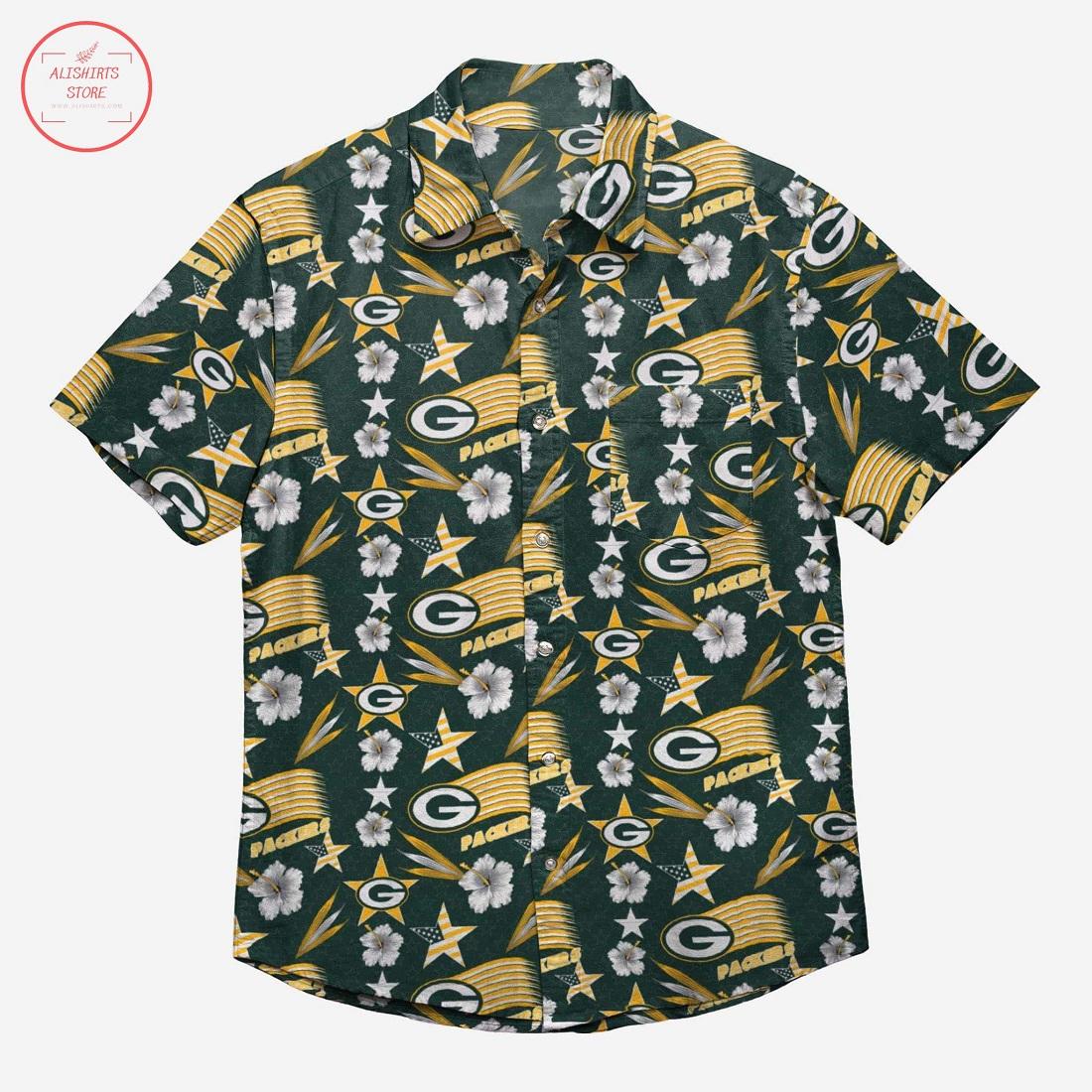 Green Bay Packers Americana Hawaiian Shirt