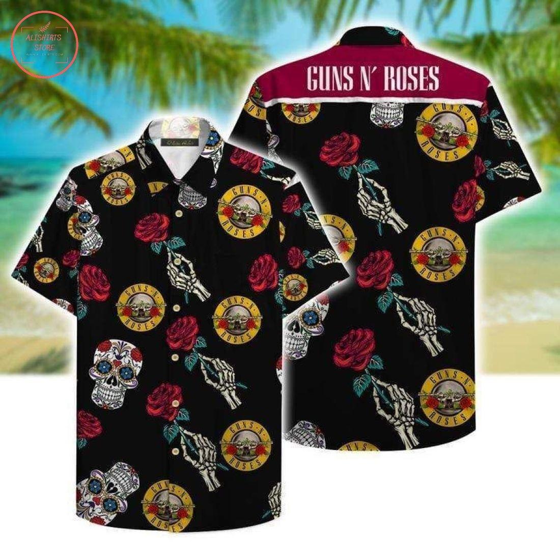 Guns N Roses Aloha Hawaiian Shirt