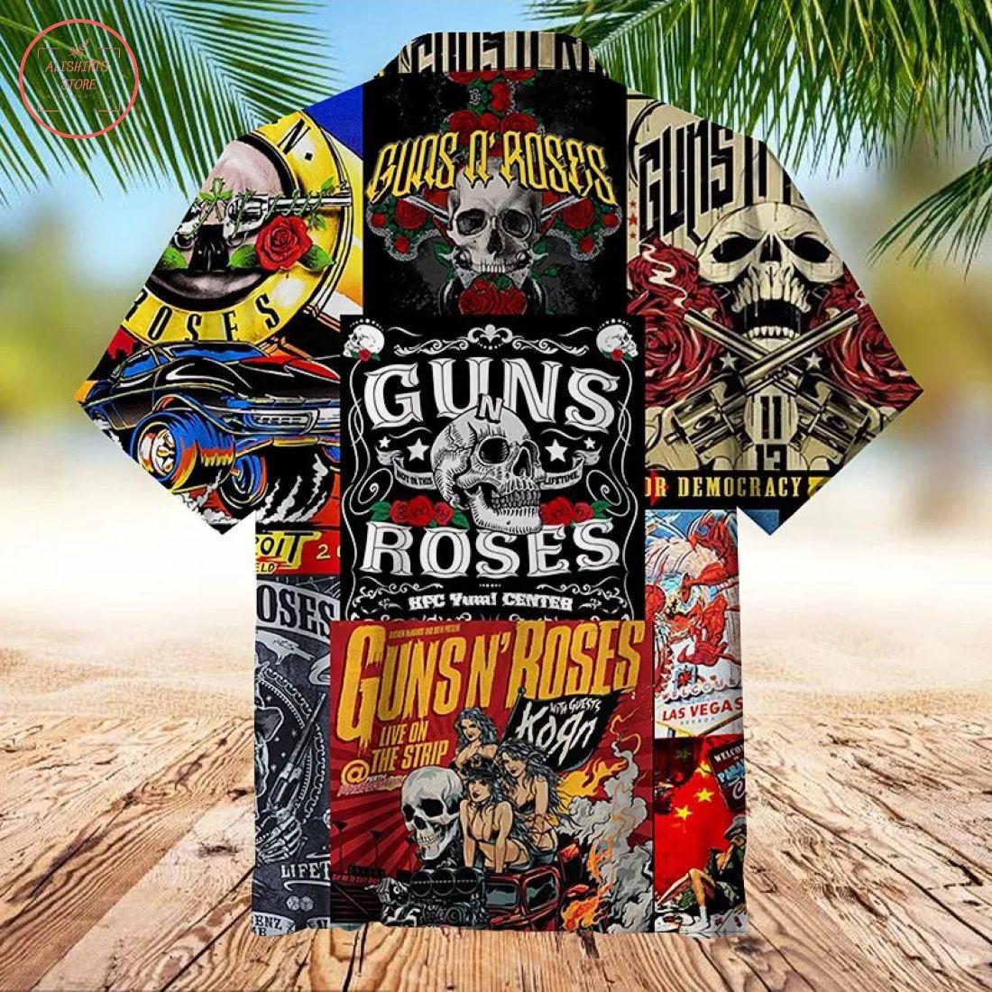 Guns N Roses Creative collage Hawaiian Shirt