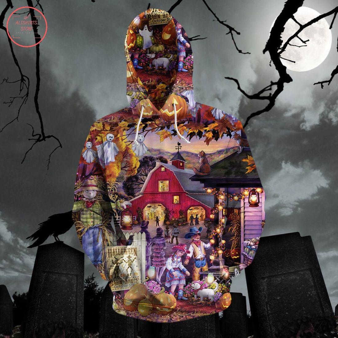 Halloween Barn Dance 3D Hoodie