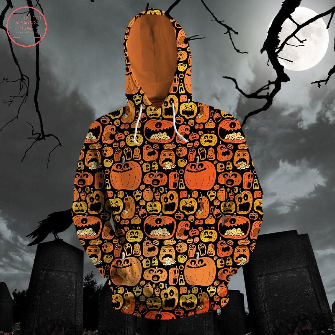 Halloween Creepy Pumpkin 3d Hoodie