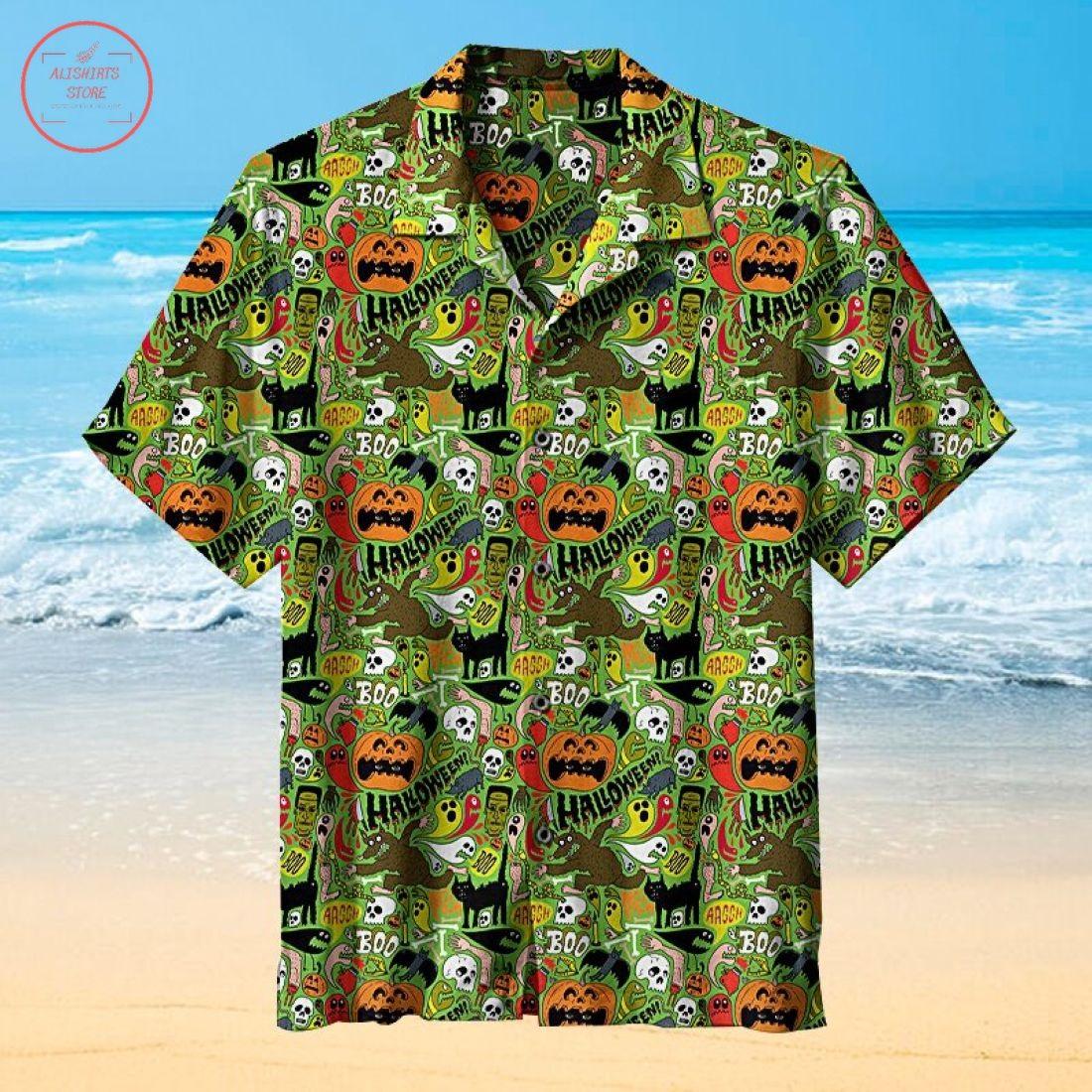 Halloween Theme Hawaiian Shirt