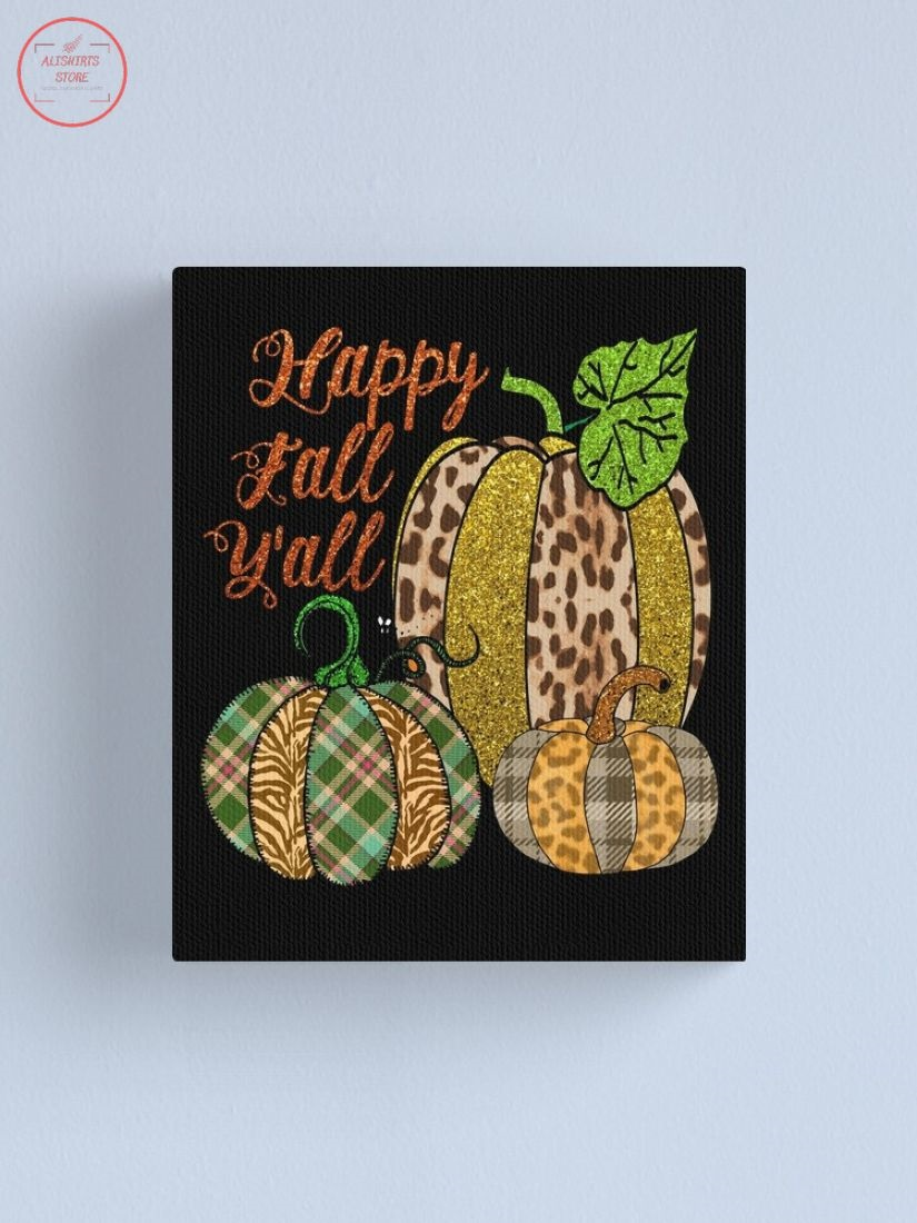 Happy Fall Y'all Pineapple Canvas Print