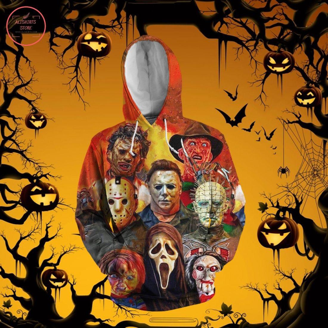 Horror Characters Halloween 3D Hoodie