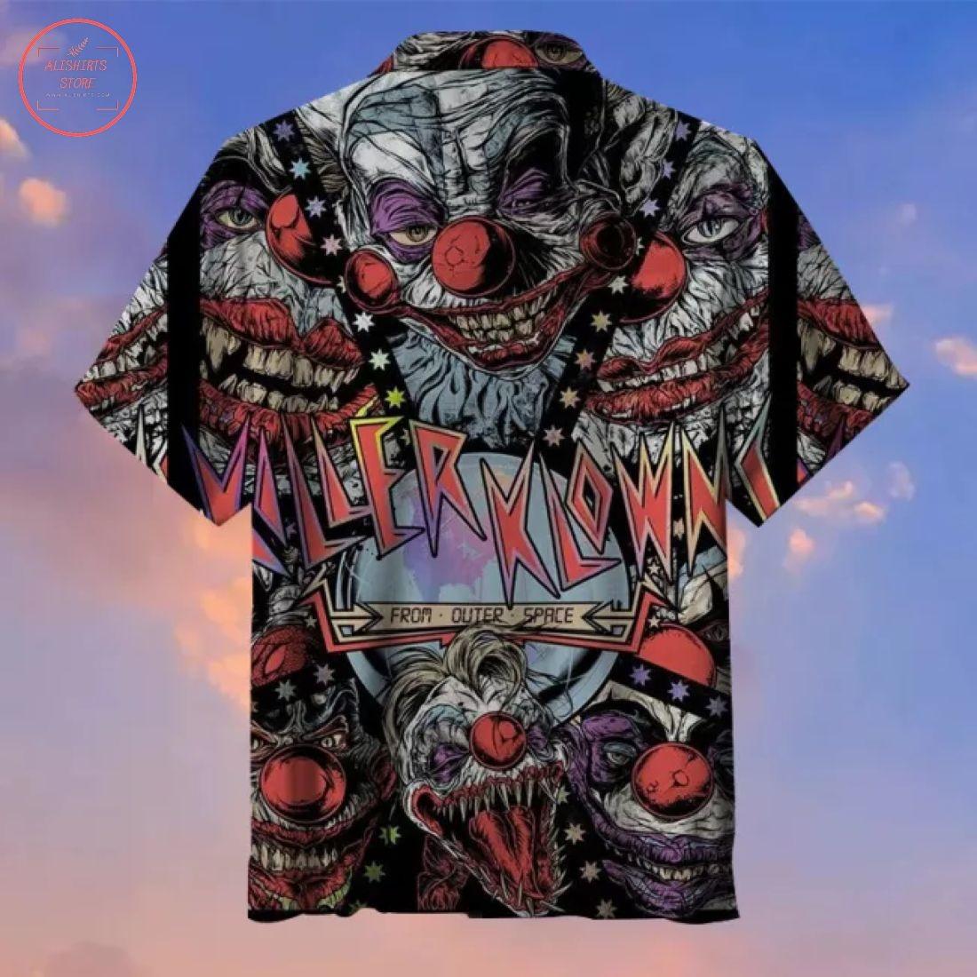 Horror Joker Halloween Hawaiian shirt