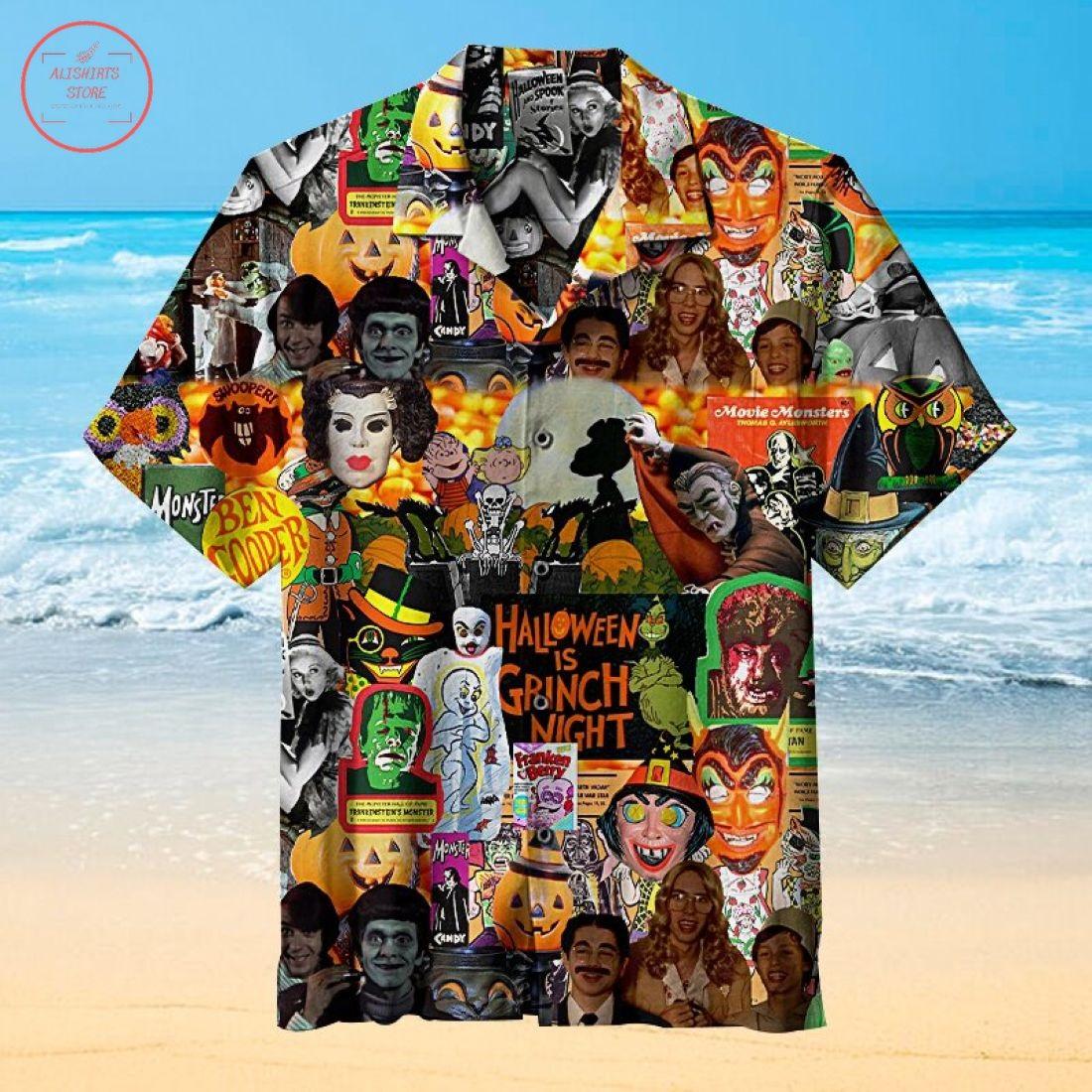 Horror Scary Halloween Carving Hawaiian Shirt